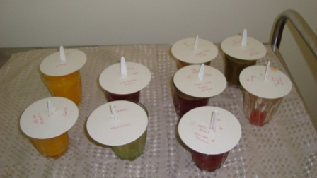 Juices waiting to be collected